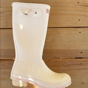 Hunter boots, size 6.
